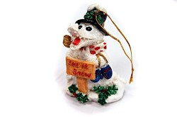 Snow Gator Ornament