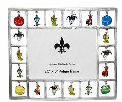 Dangle New Orleans Charm Pewter Frame