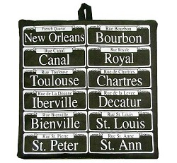 Multi Street Sign Potholder