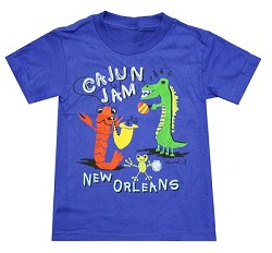 Cajun Jam Kids T-Shirt Royal Blue Youth Large