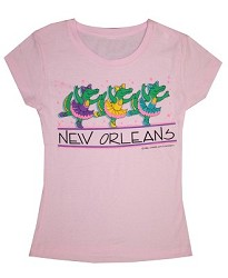 Ballerina Alligator Kid Shirt SM Pink Youth Small