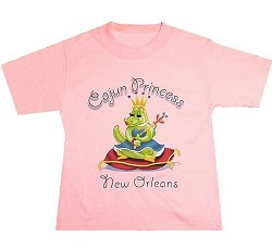 Cajun Princess T-Shirt XS Pink Youth X-Small