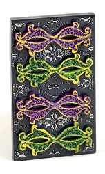 Mask Magnet Purple/Green Poly