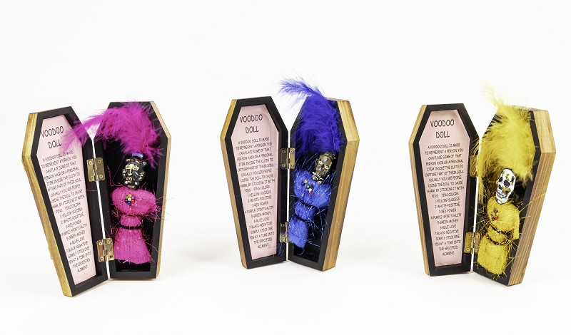 Voodoo Dolls in Coffin,C1012-A