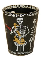 Skeleton Sax Clear Shot Glass,G3NOSS
