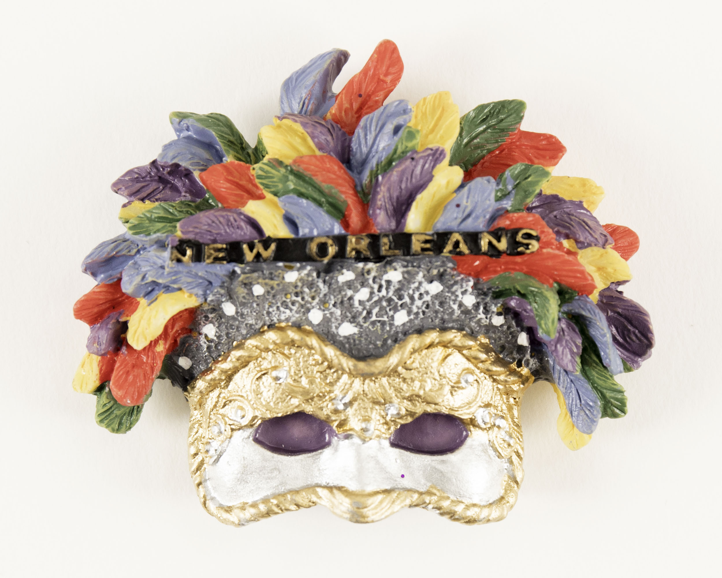 Multicolored Feather 3D Mask Magnet,MS27NOF