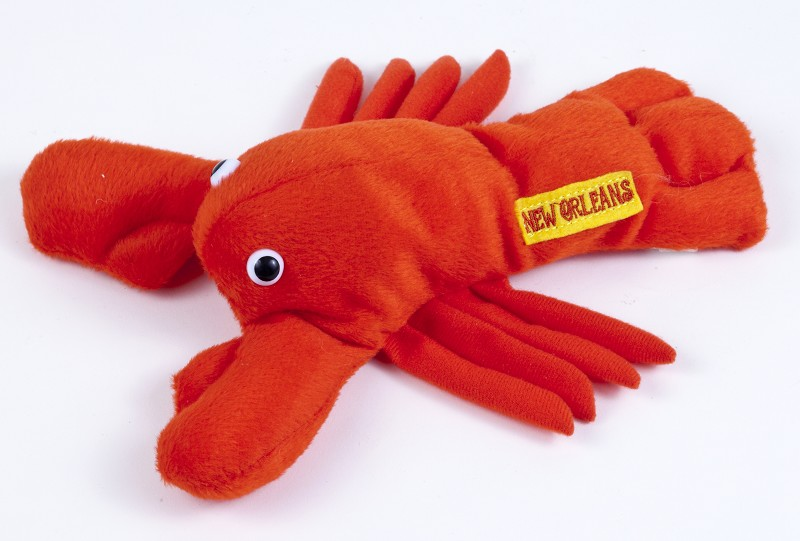 N.O. Plush Crawfish with New Orleans Badge,9586CF