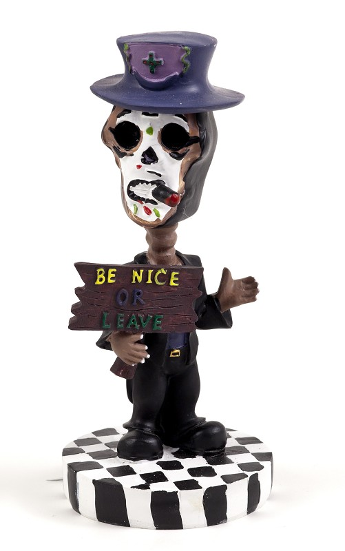 Be Nice or Leave Bobble Head,RL81933C