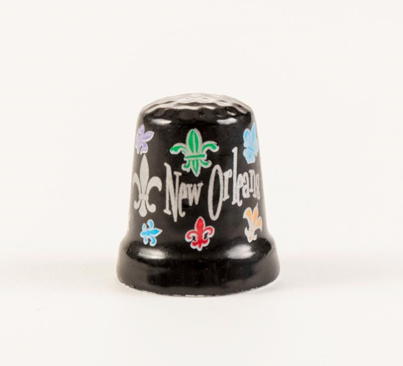 Fleur de lis Ceramic Thimble,217FDL