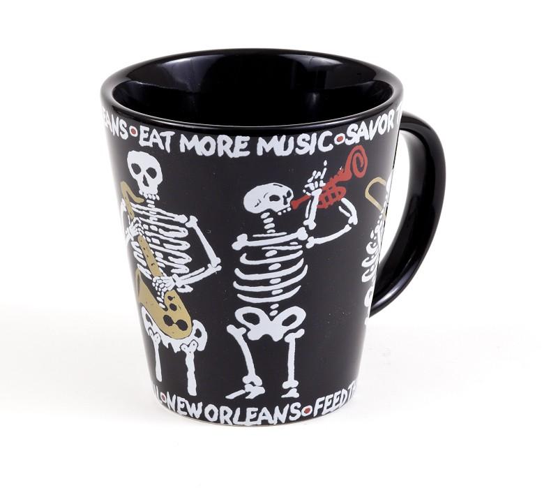 Skeleton Sax Mug,09NOSS