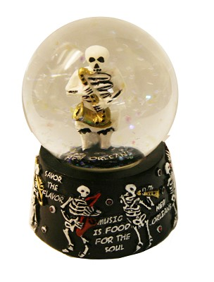 Skeleton 3D Poly Water Globe,90013NOSS