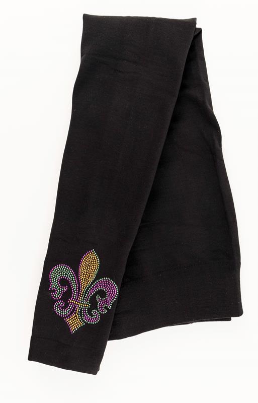 Black Fleur de Lis Legging,LEG134