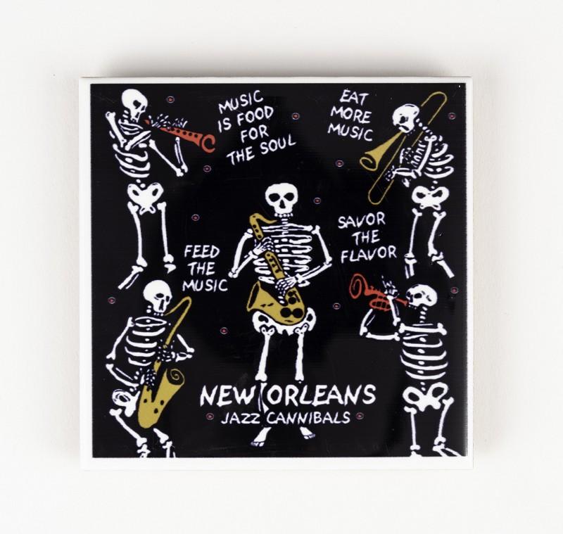 Skeleton Sax Tile,0882NOSS