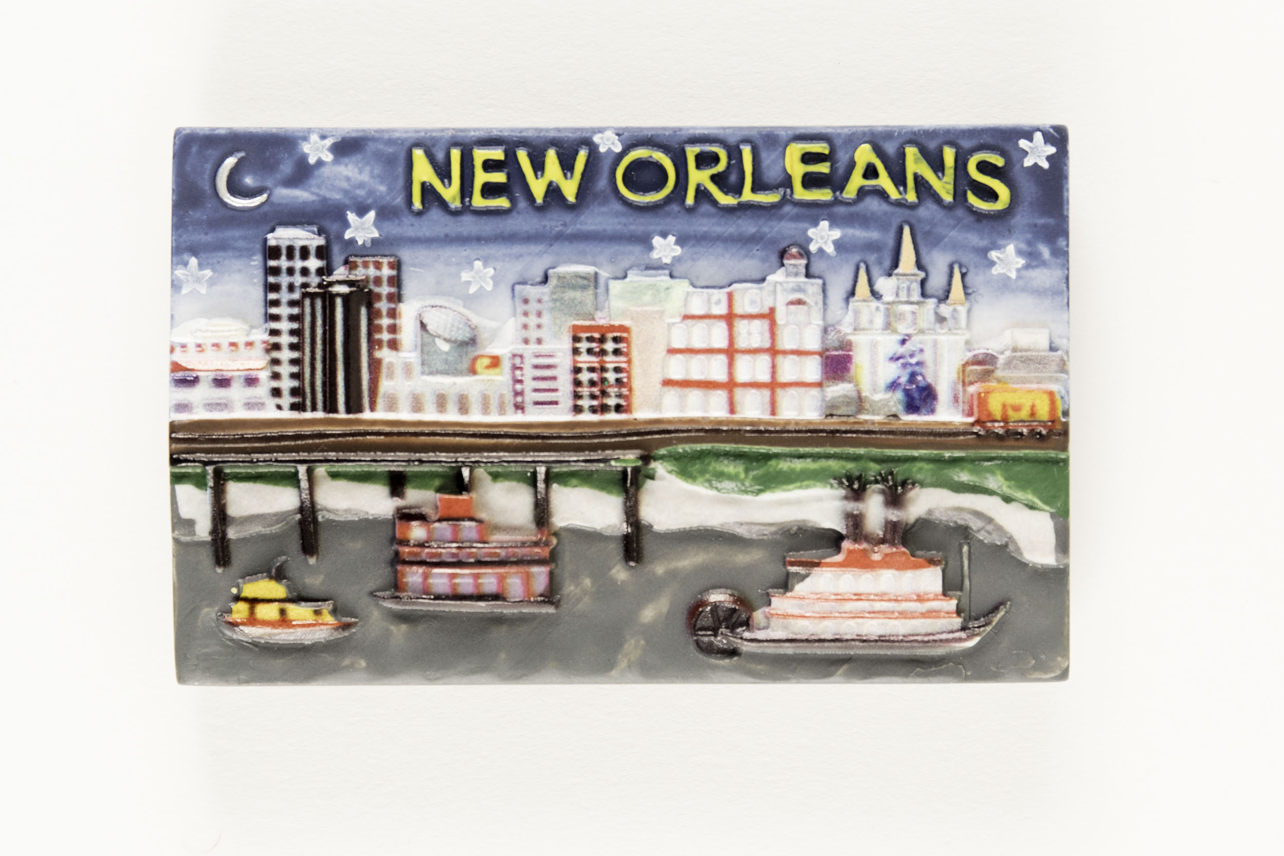 New Orleans Riverfront 3D Magnet,MS27RV
