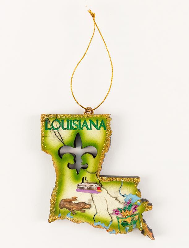 Louisiana State Shape Ornament,M12