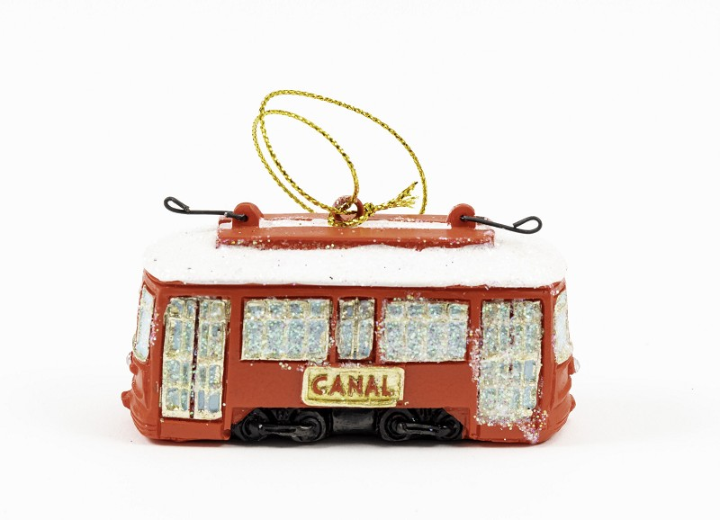 Red Canal Streetcar Ornament,JH21