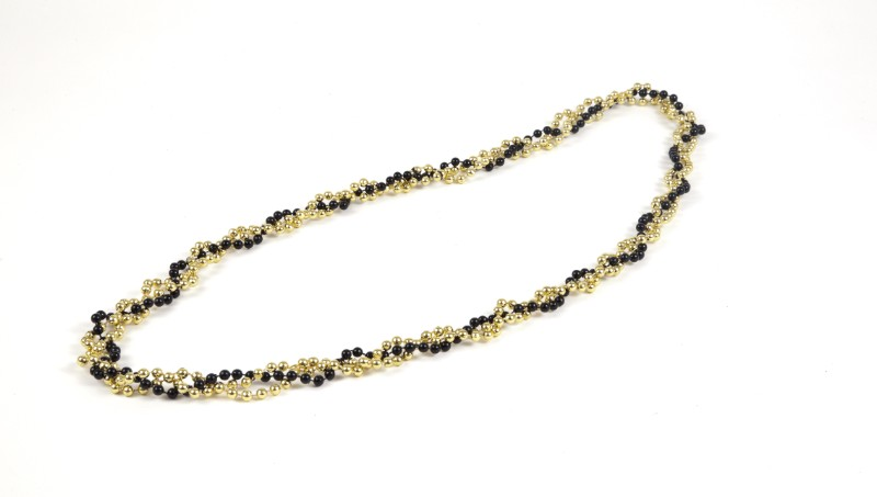 Twist Beads Blk/Gld,42-TWT BLK/GO