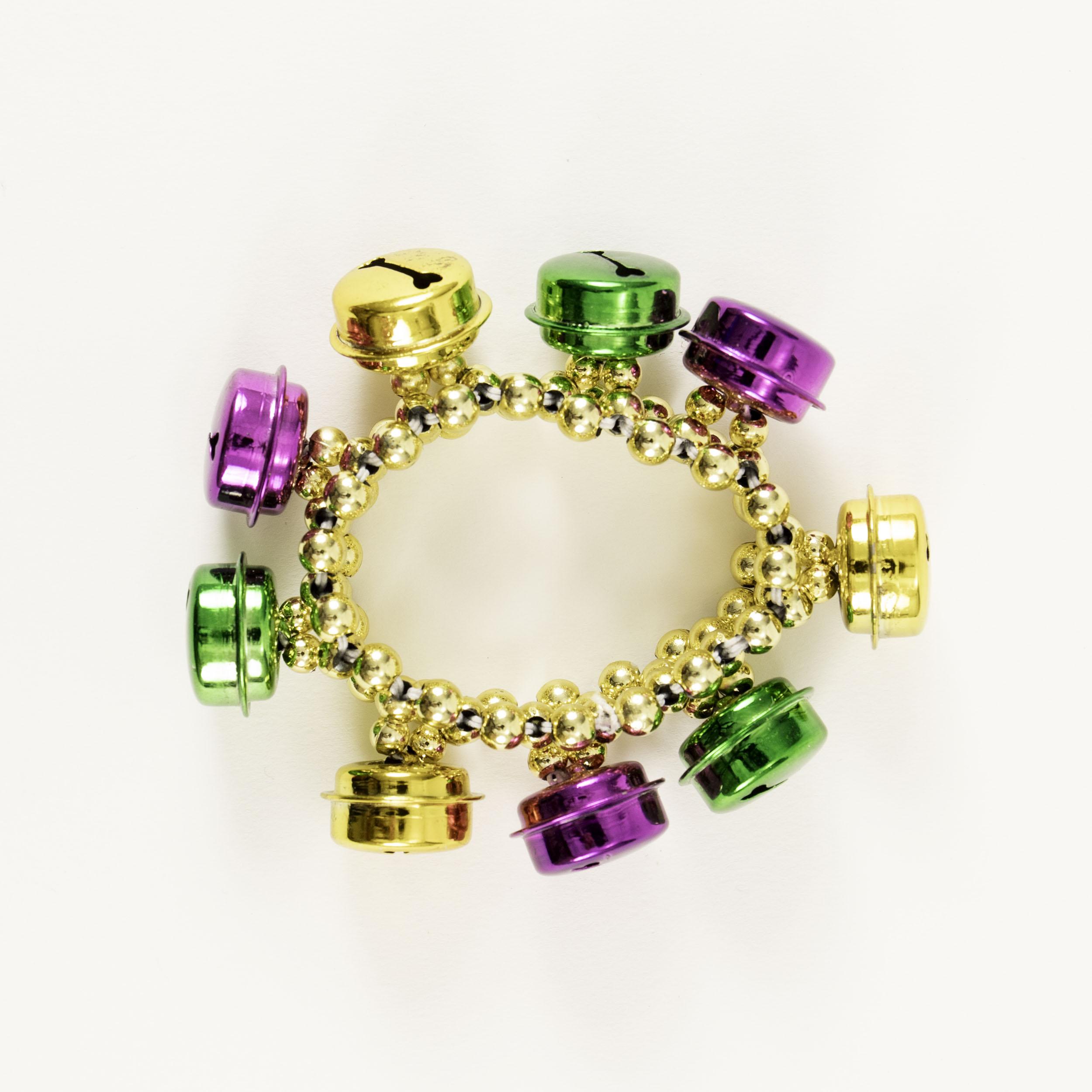 Gold Bracelet with Bells,BRA-064