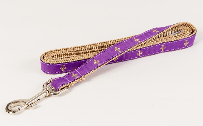 Purple Fleur de Lis Leash,28160305