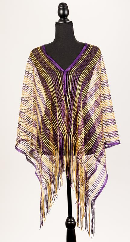 Purple and Gold Poncho,91