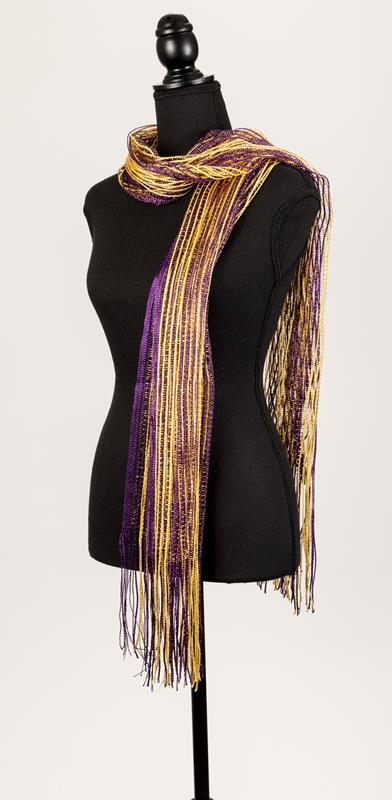 Purple and Gold Scarf,109