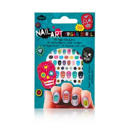Sugar Skull Nail Stickers,NP12026