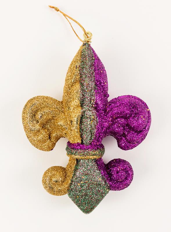 Fleur De Lis Glitter Ornament,4194