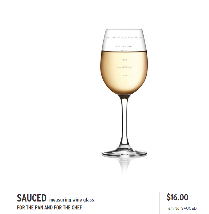 Sauced- Measured Wine Glass,SAUCED