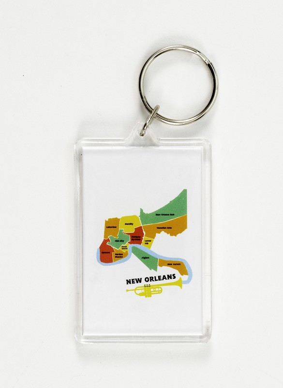 New Orleans Map Keychain