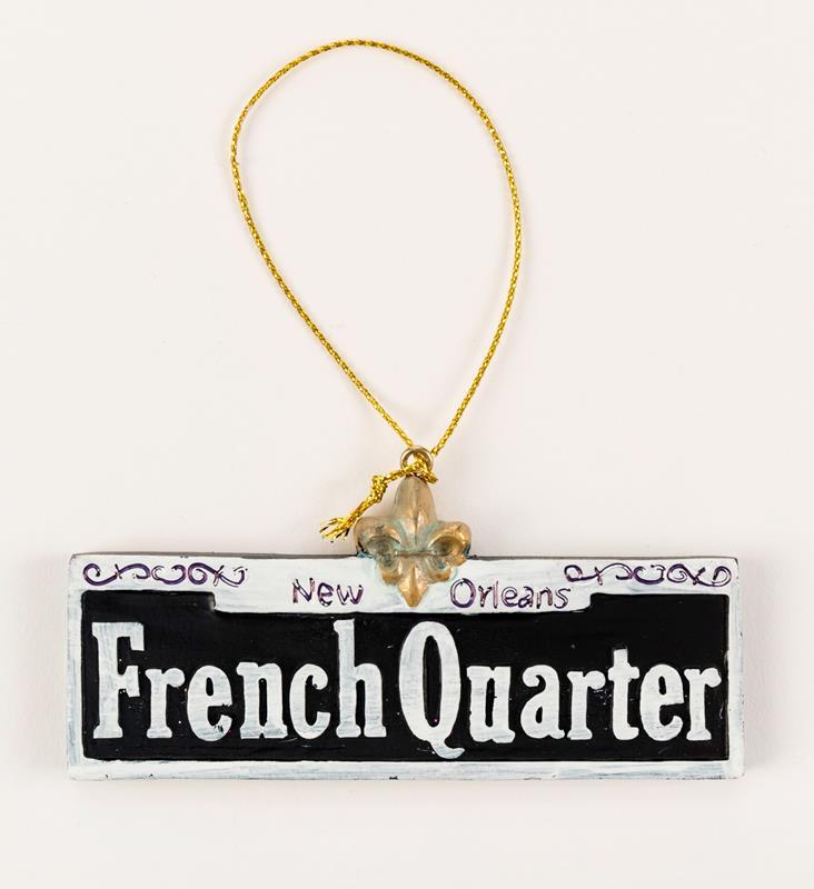 French Quarter Sign Ornament,M23