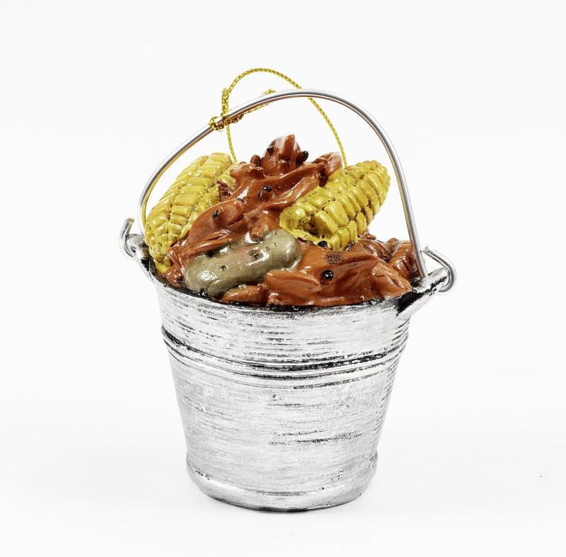 Crawfish Bucket Ornament,K128