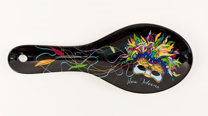 Feather Mask Spoonrest,013BMASK