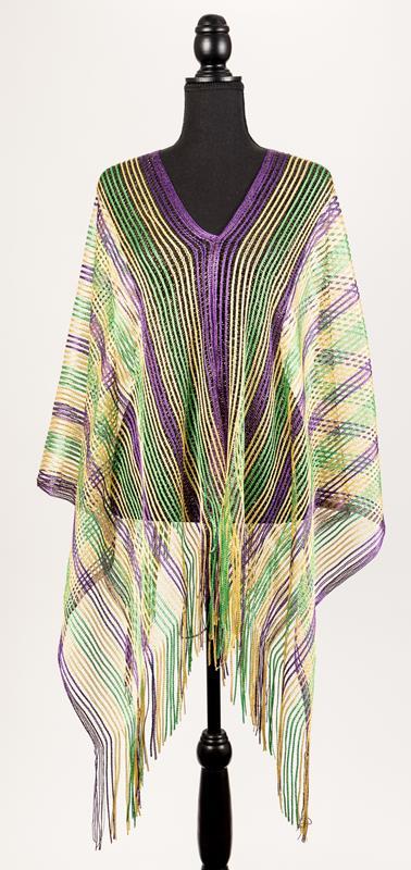 Purple, Green, Gold Poncho,94