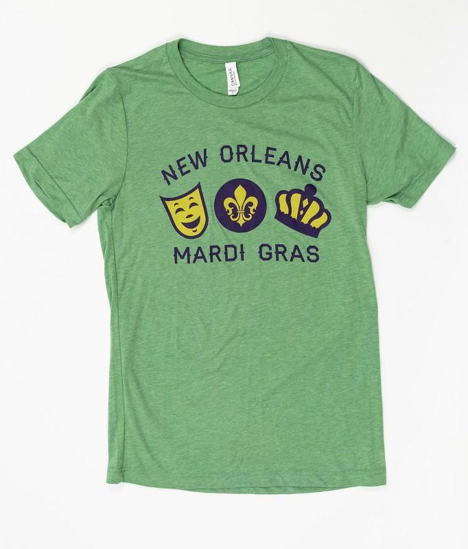 Mardi Gras Symbols T-Shirt,LARGE