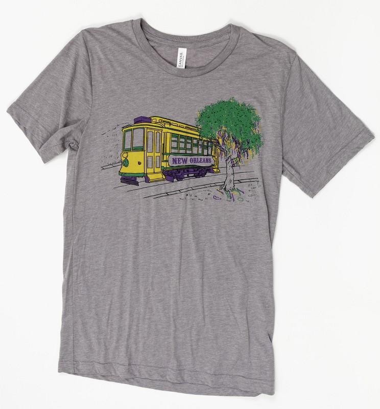 Mardi Gras Streetcar T-Shirt,XXL