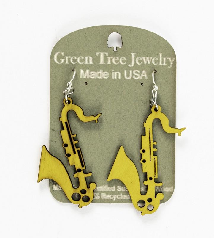 Saxophone Earrings,1107-4-TE