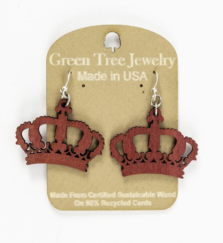 Crown Earrings,1193-2-P-2-TE