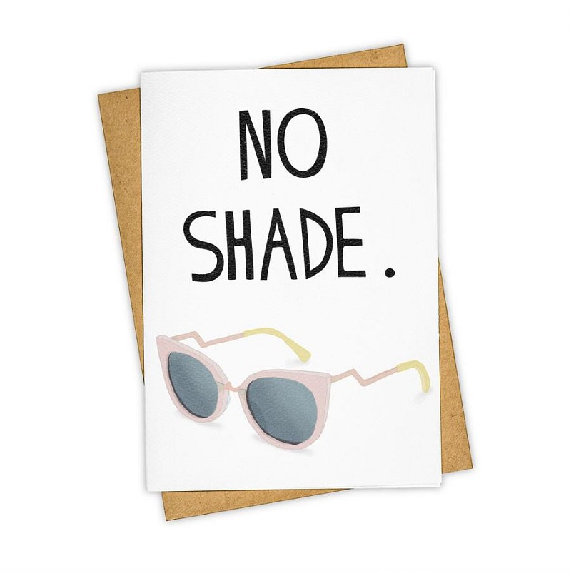 No Shade Notecard,250