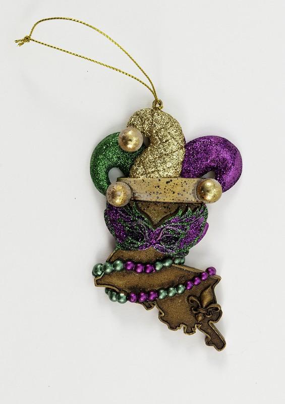Louisiana Jester Ornament,R02