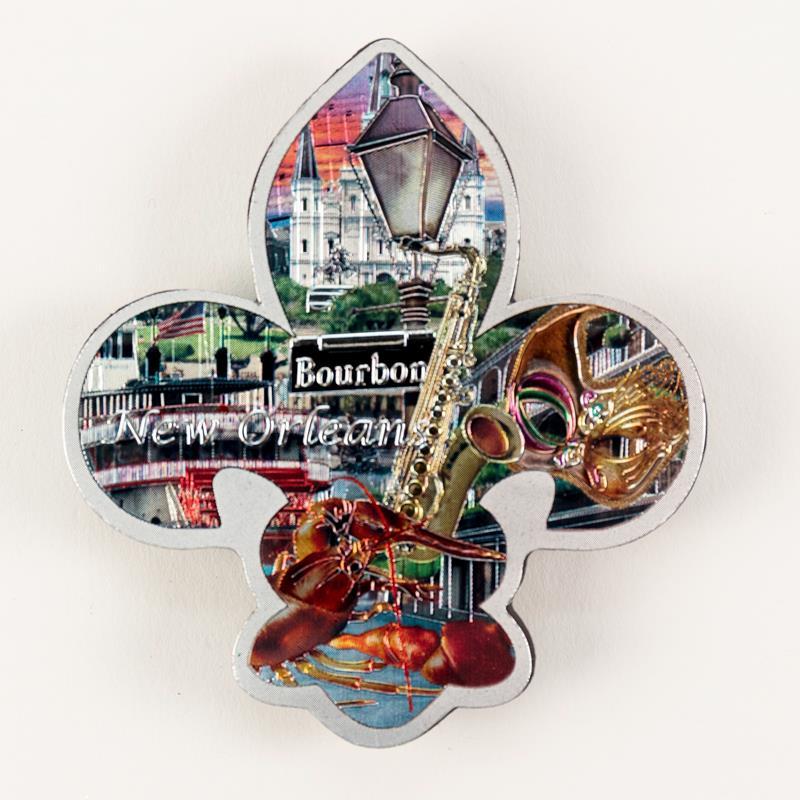 Fleur de Lis Collage Magnet,159178