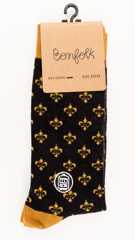 Black & Gold Bonfolk Sock