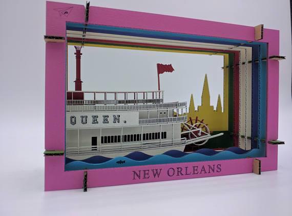Riverboat Diorama