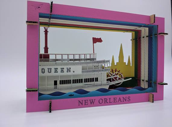 Riverboat Diorama