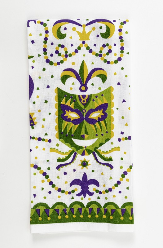 Mardi Gras Mask Kitchen Towel,10088