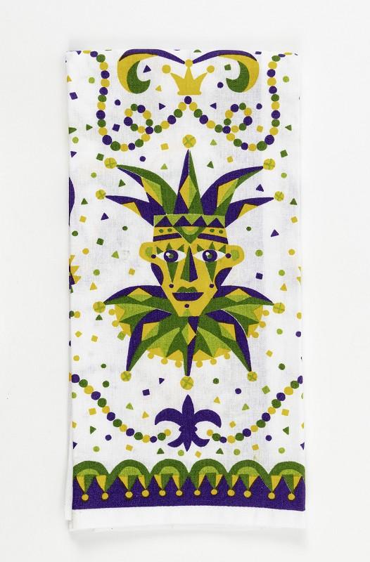 Mardi Gras Jester Kitchen Towel,10087