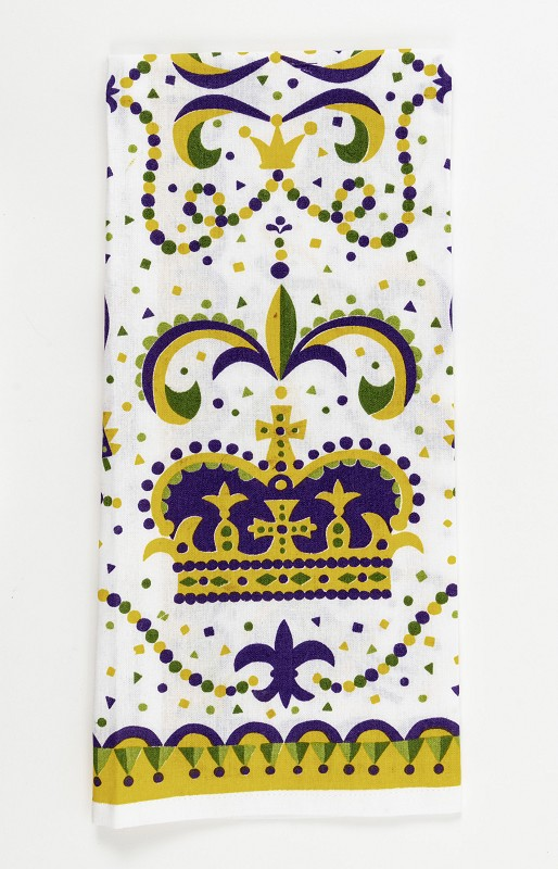 Mardi Gras Crown Kitchen Towel,10086