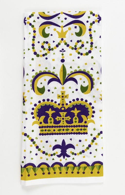 Mardi Gras Crown Kitchen Towel,10086