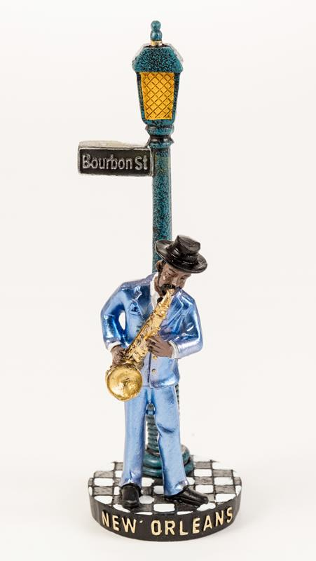 Man Sax Player with Lamp Post,7519