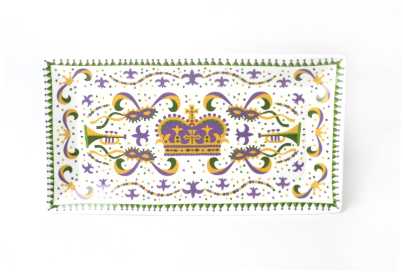 Mardi Gras Small Platter,10094