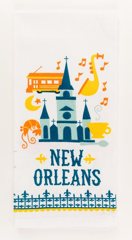 New Orleans Cathedral Kitchen Towel,10040